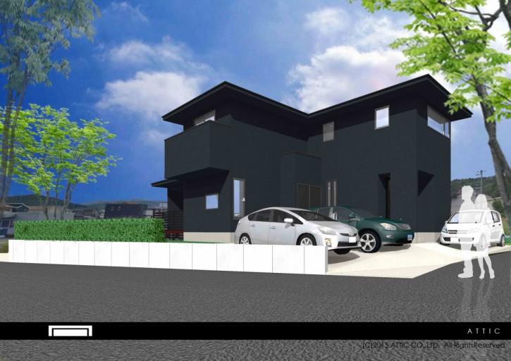 寄棟の黒い家