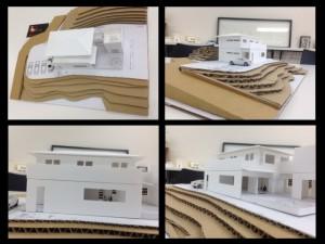 和モダンな住宅の模型