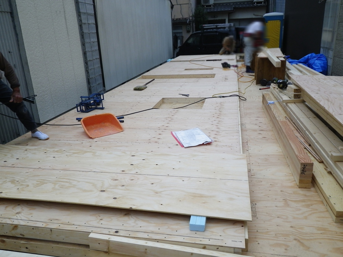 壁 構造用合板貼り 建て起し