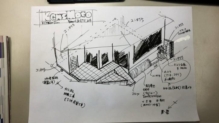 kensmoto店舗 外構計画